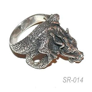 серебряный мужской перстень Дракон | Описание