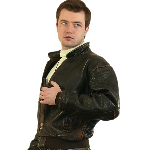 Кожаная куртка летчика