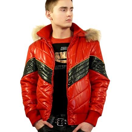фото Куртка зимняя стёганная с капюшоном VENEZIA , 45см, коричневый