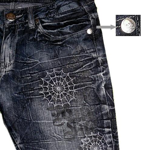 Code lmp 046 мужские джинсы с принтом в